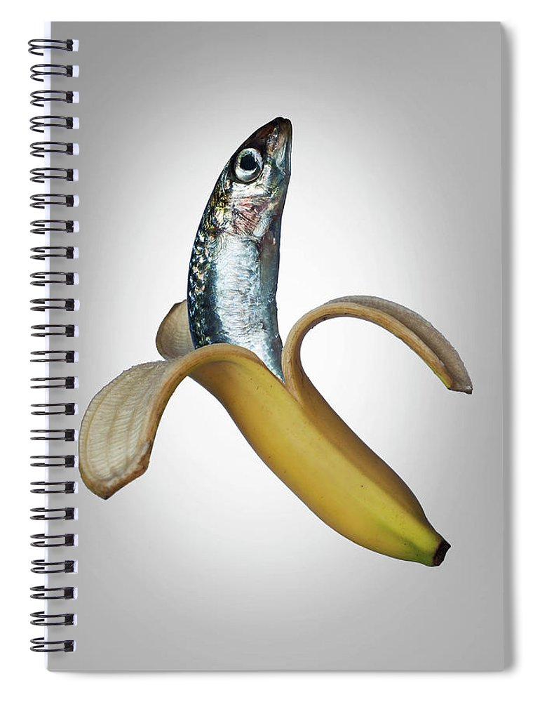 Confusion Spiral Notebook featuring the photograph A Fish In A Banana by Buena Vista Images