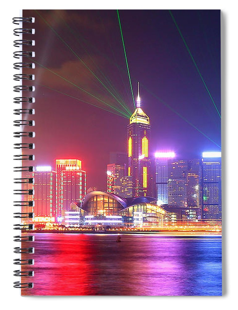 Tranquility Spiral Notebook featuring the photograph A Symphony Of Lights by Liu Wai Yip Even