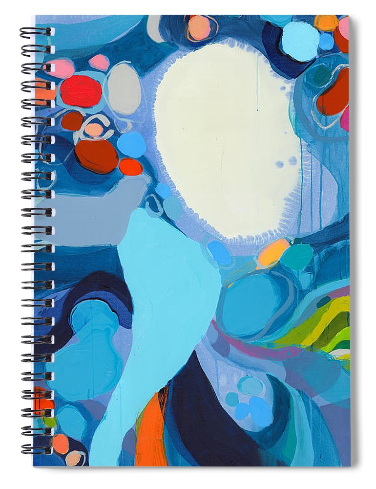 Abstract Spiral Notebook featuring the painting A Woman Named Emory by Claire Desjardins
