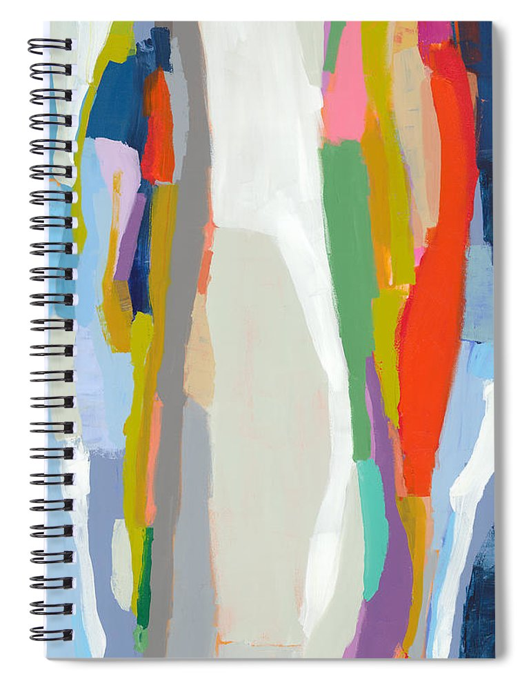 Abstract Spiral Notebook featuring the painting Aaron And His Greens by Claire Desjardins