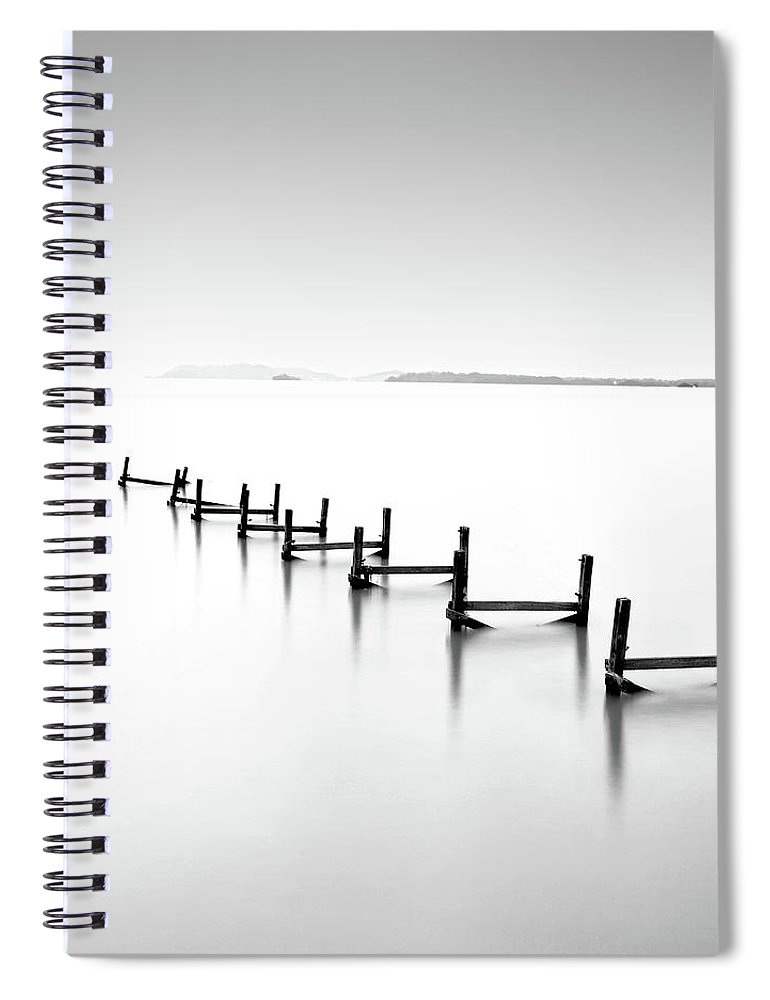 Tranquility Spiral Notebook featuring the photograph Abandond Jetty by Photography By Azrudin