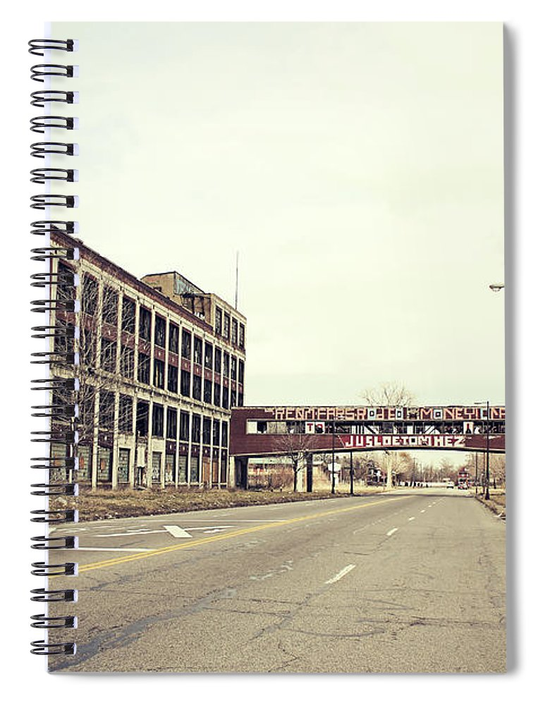Detroit Spiral Notebook featuring the photograph Abandoned Detroit Packard Plant by Hillaryfox