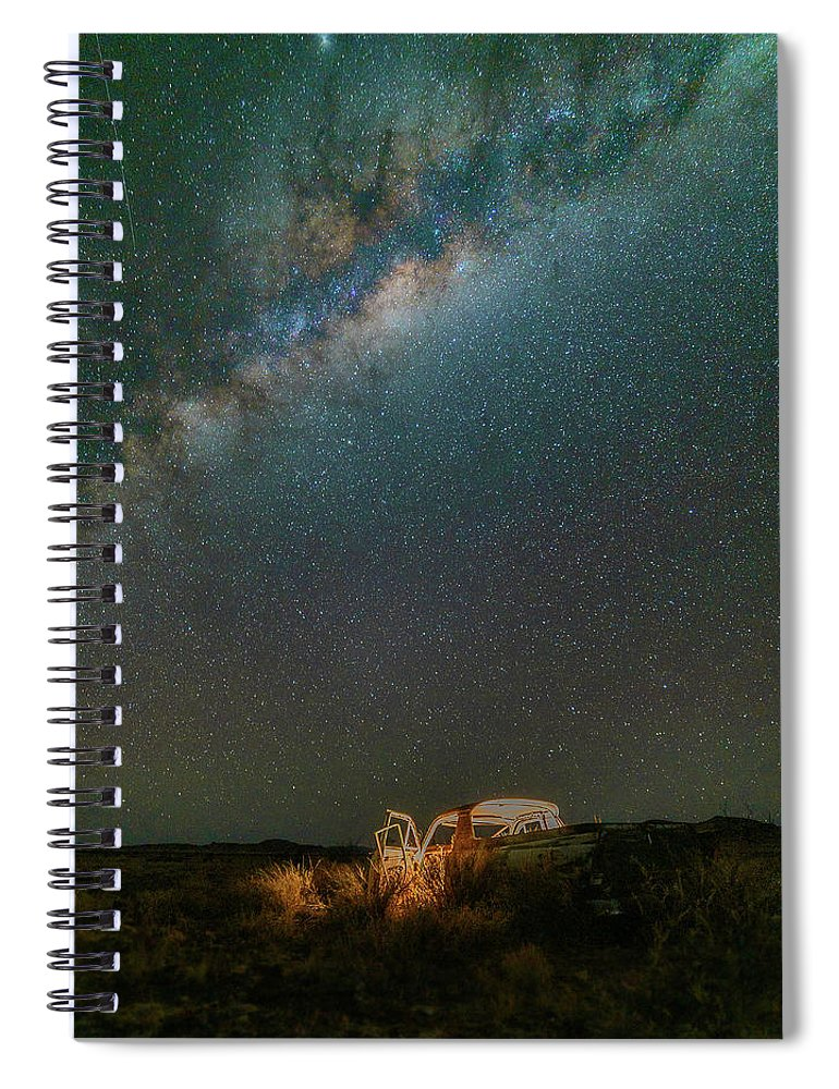 Milky Way Spiral Notebook featuring the photograph Abandoned Light by Mark Vegera