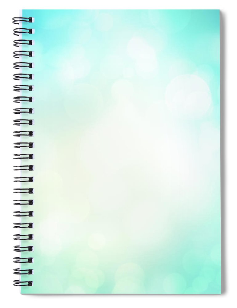 Particle Spiral Notebook featuring the photograph Abstract Background With Defocused by Jasmina007
