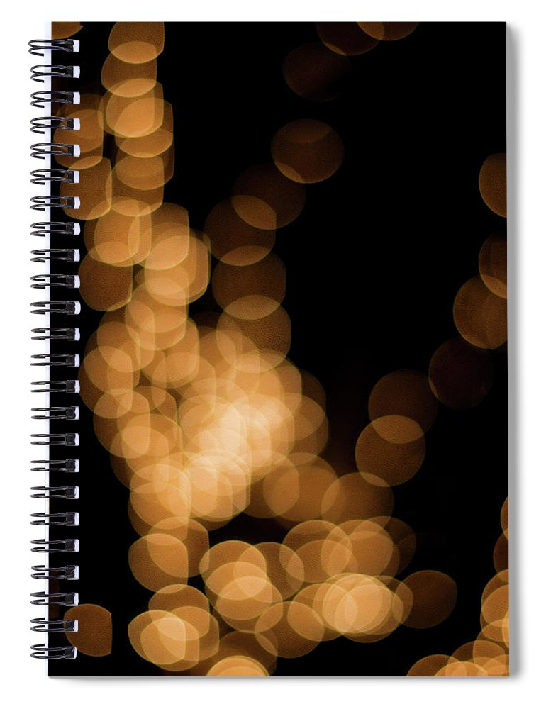 Funky Spiral Notebook featuring the photograph Abstract Lights by Miss pj