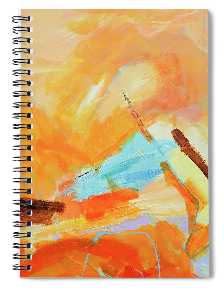 Oil Painting Spiral Notebook featuring the digital art Abstract Oil Painting by Balticboy