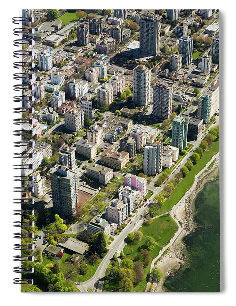 Outdoors Spiral Notebook featuring the photograph Aerial Of West End, Vancouver by Lucidio Studio, Inc.