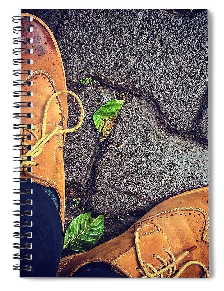 Shoes Spiral Notebook featuring the photograph Afternoon delight by Mark Ddamulira