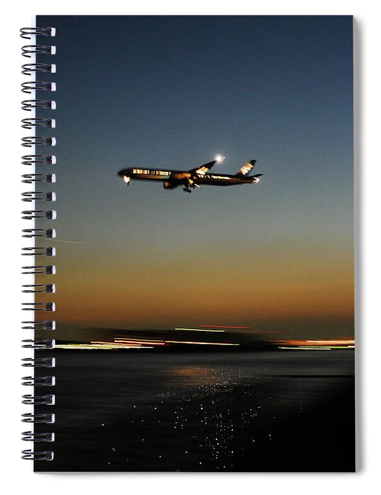Outdoors Spiral Notebook featuring the photograph Airplane by Takeshi.k