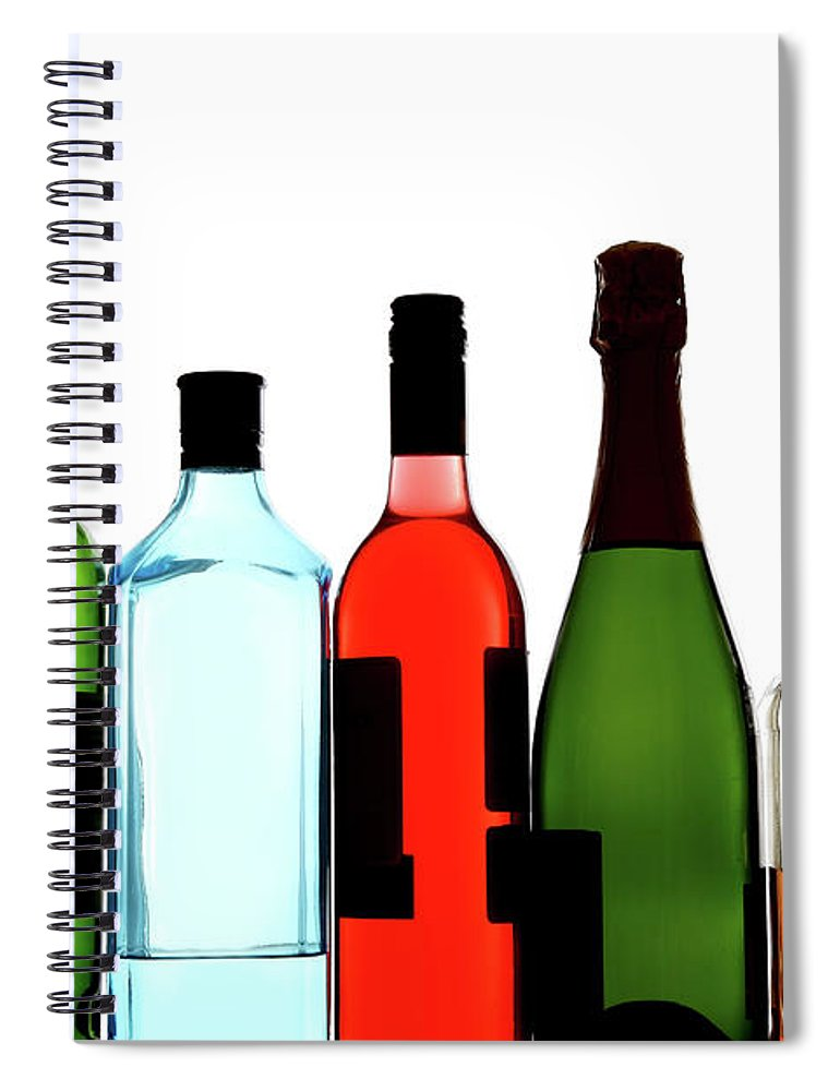 Alcohol Spiral Notebook featuring the photograph Alcohol by Mattjeacock
