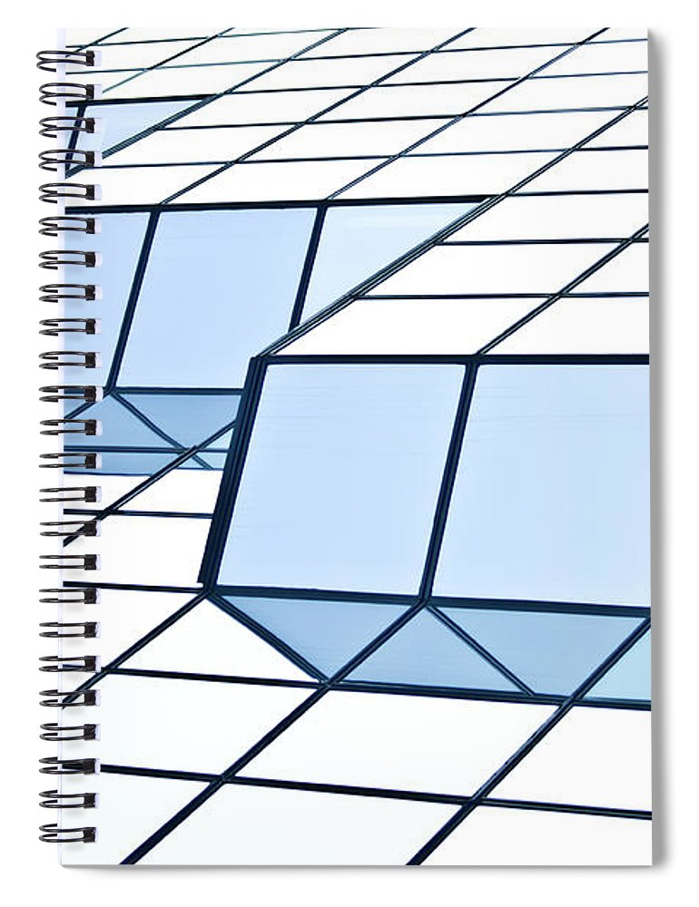 Rectangle Spiral Notebook featuring the photograph Almost Pure Geometry by Daniel Kulinski