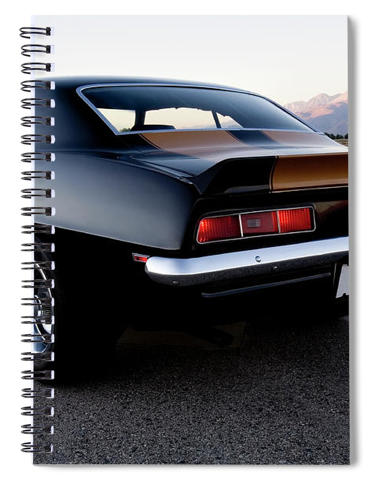 Drag Racing Spiral Notebook featuring the photograph American Muscle Car by Sierrarat
