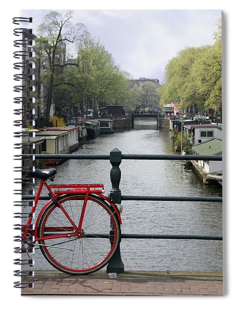 Row House Spiral Notebook featuring the photograph Amsterdam City Scene by W-ings