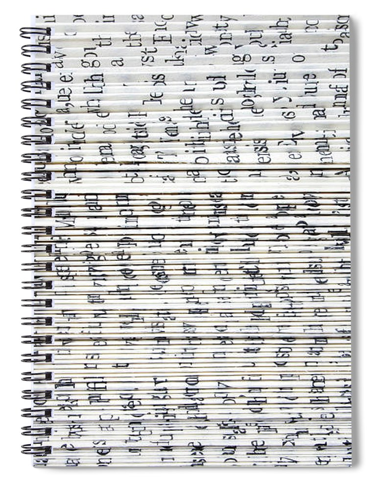 Information Medium Spiral Notebook featuring the photograph Ancient Paper Book by Valerie Loiseleux