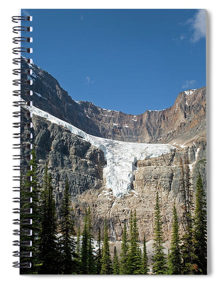 Scenics Spiral Notebook featuring the photograph Angel Glacier by Jim Julien / Design Pics