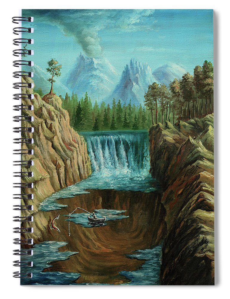 Scenics Spiral Notebook featuring the digital art Angeln by Pobytov
