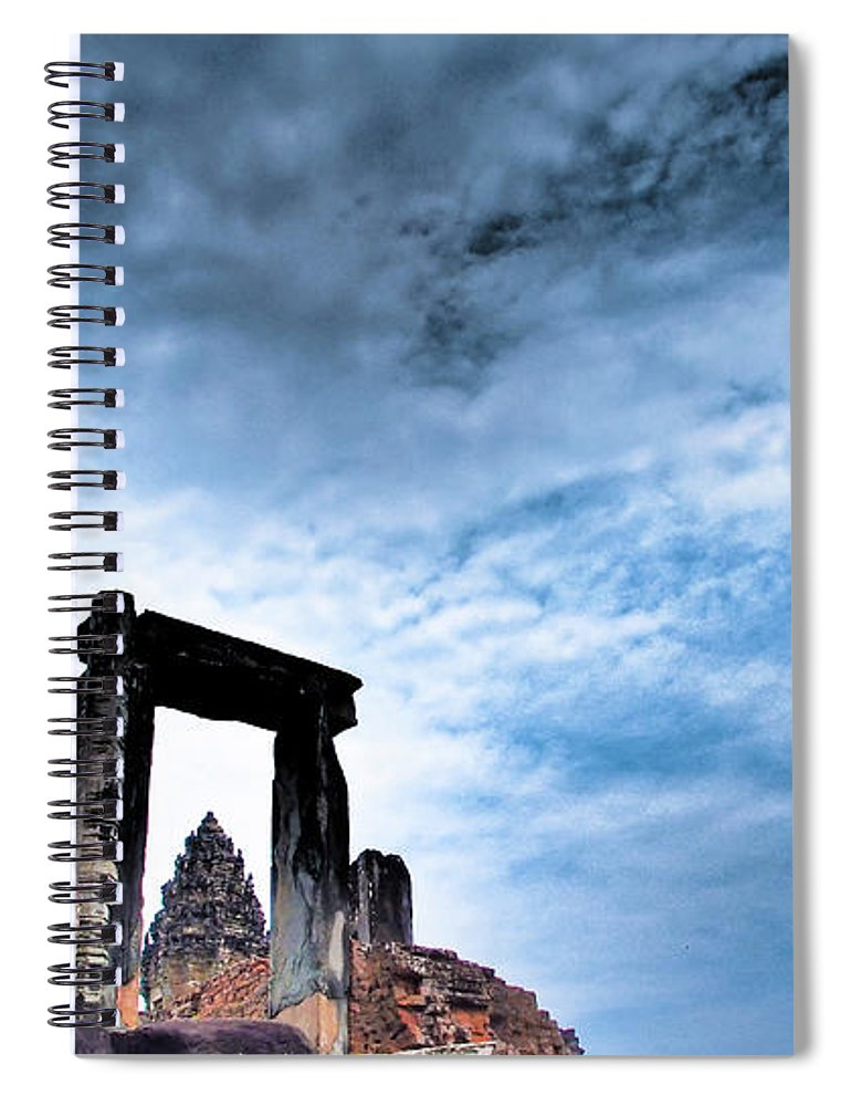 Cambodian Culture Spiral Notebook featuring the photograph Angkor by Cjfan
