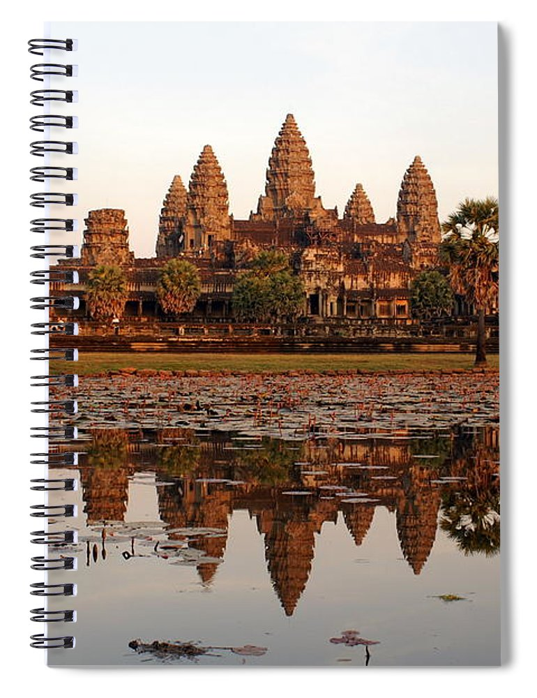 Tranquility Spiral Notebook featuring the photograph Angkor Wat - Siem Reap - Cambodia by By Lionel Arnould