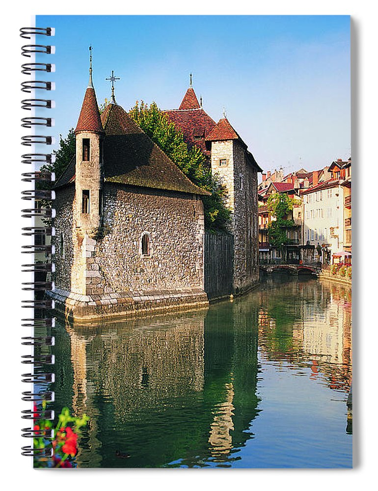 Town Spiral Notebook featuring the photograph Annecy, Savoie, France by Robertharding
