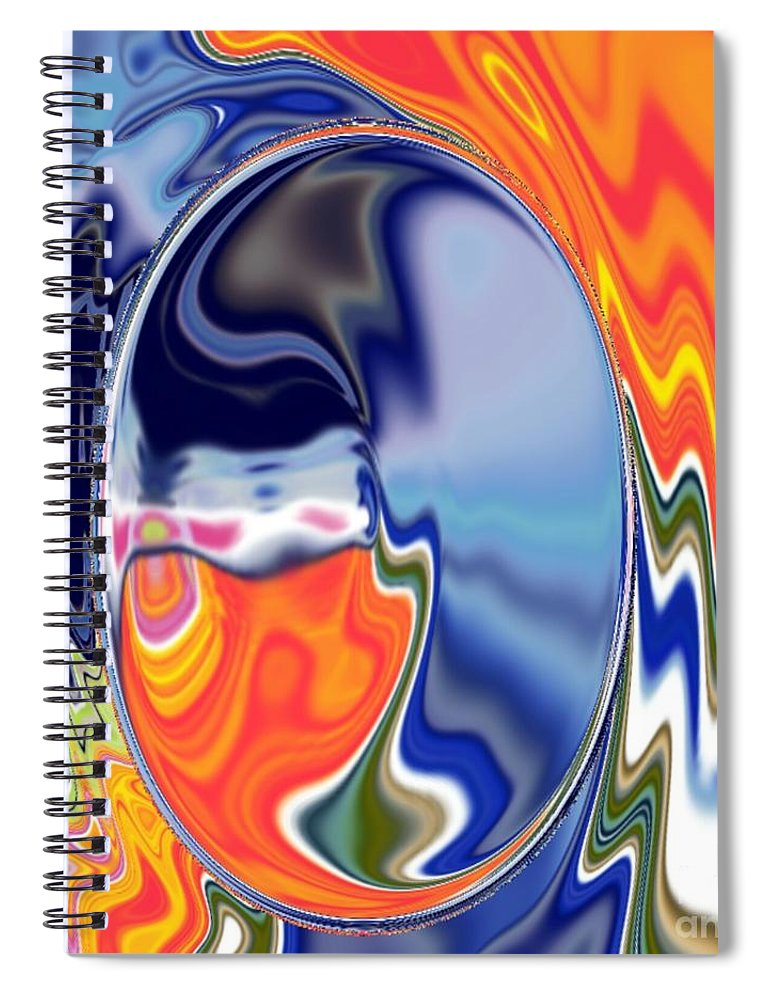 Abstract  Artwork Spiral Notebook featuring the digital art Ooo by A z akaria Mami