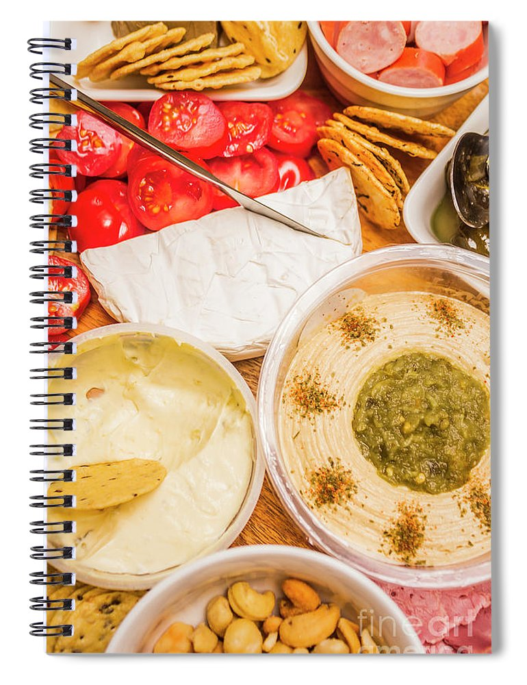 Food Spiral Notebook featuring the photograph Appetizers Delight by Jorgo Photography - Wall Art Gallery