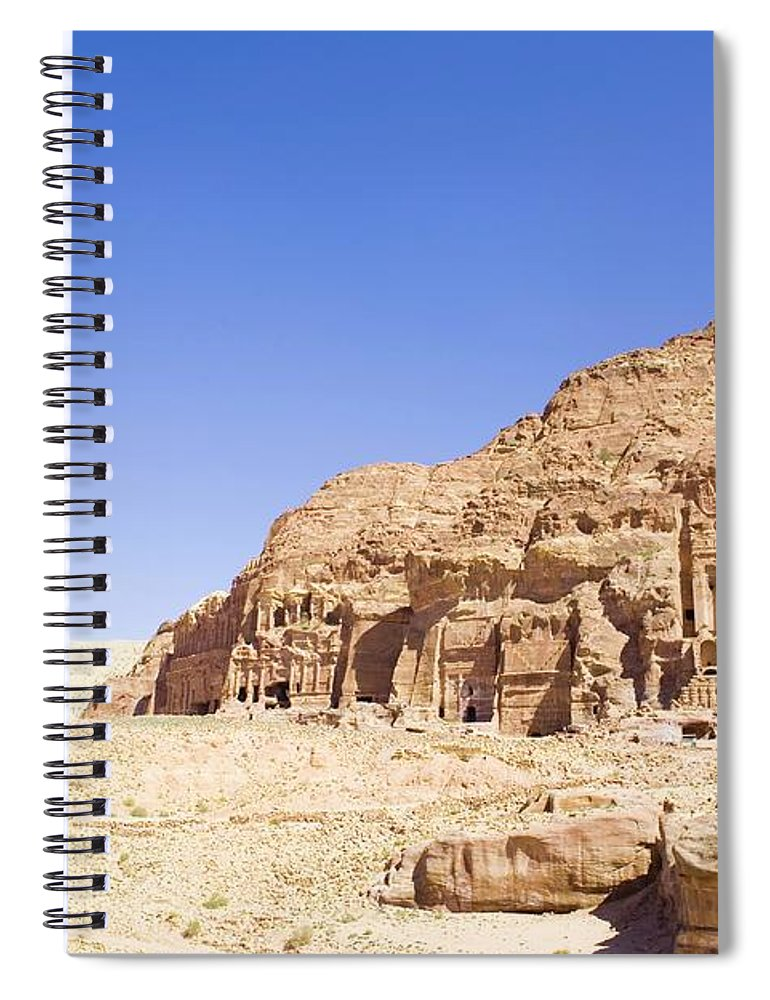 Scenics Spiral Notebook featuring the photograph Archaeological Remains Of Petra by Gallo Images