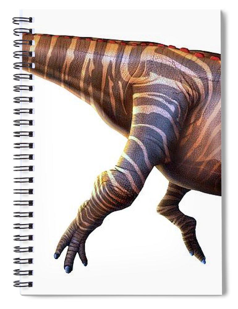 Animal Skull Spiral Notebook featuring the digital art Artwork Of A Parasaurolophus Dinosaur by Mark Garlick