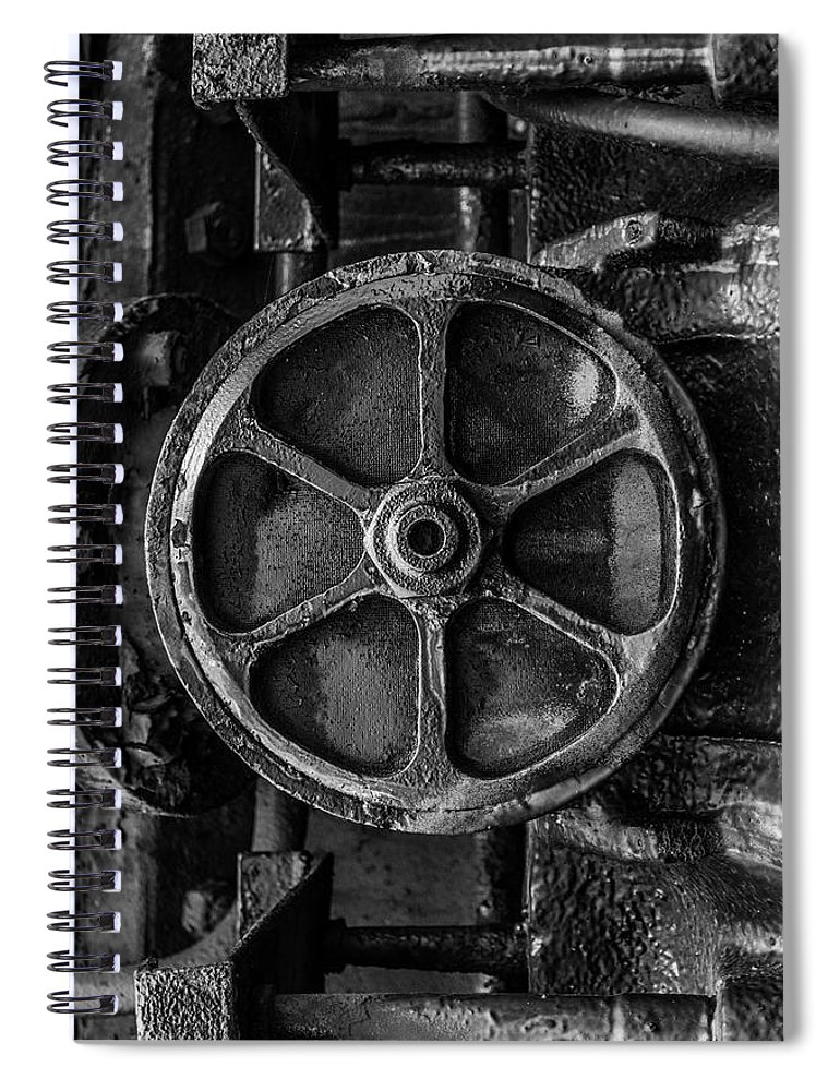 Black And White Spiral Notebook Featuring The Photograph A Round To It By Enzwell Designs