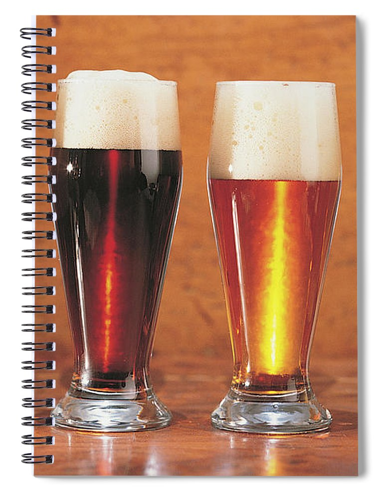 Stout Spiral Notebook featuring the photograph Assorted Beers And Ales by Comstock