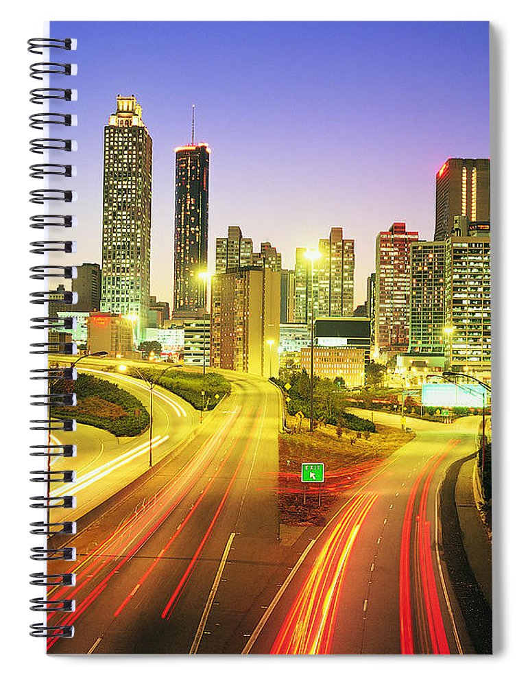 Atlanta Spiral Notebook featuring the photograph Atlanta Skyline, Georgia, Usa by Travel Ink