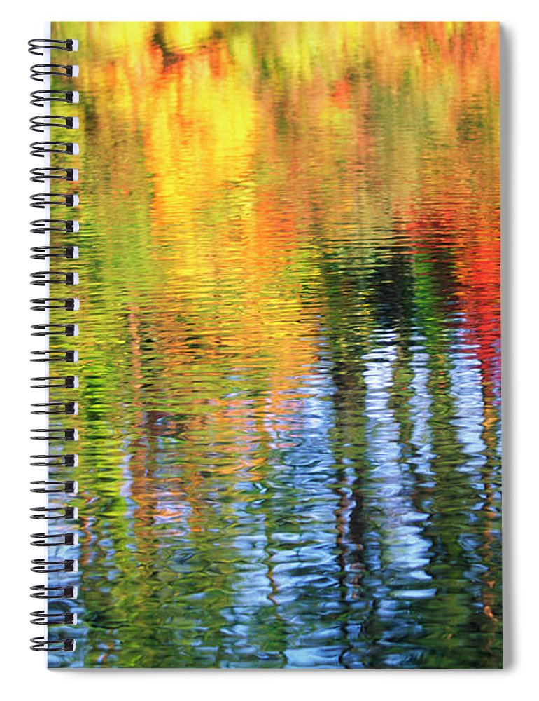 Outdoors Spiral Notebook featuring the photograph Autumn Color Reflection by Ooyoo