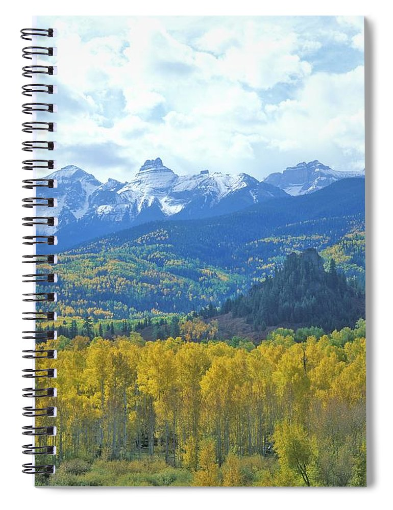 Scenics Spiral Notebook featuring the photograph Autumn Colors In The Sneffels Mountain by Visionsofamerica/joe Sohm
