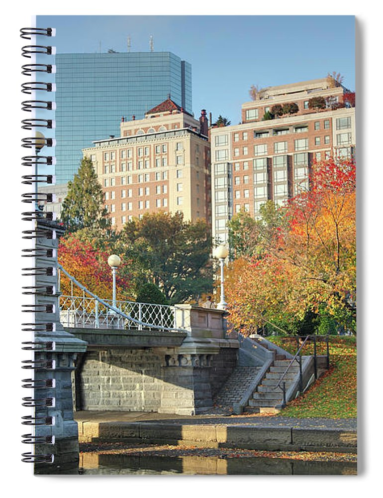 Downtown District Spiral Notebook featuring the photograph Autumn In Boston by Denistangneyjr
