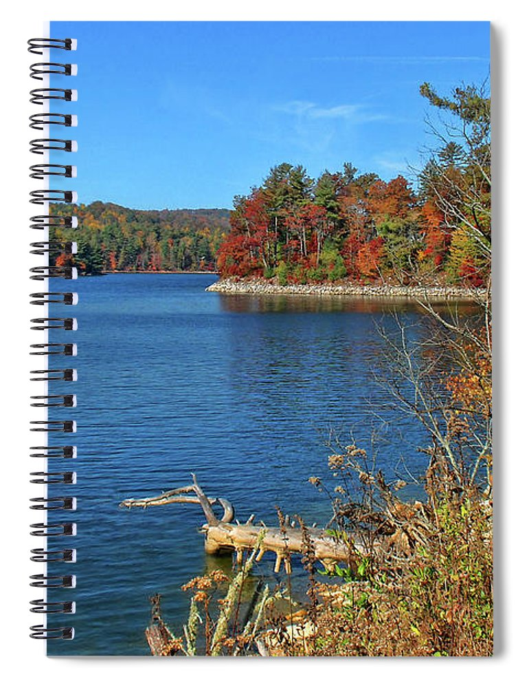 Lake Glenville Spiral Notebook featuring the photograph Autumn In North Carolina by HH Photography of Florida