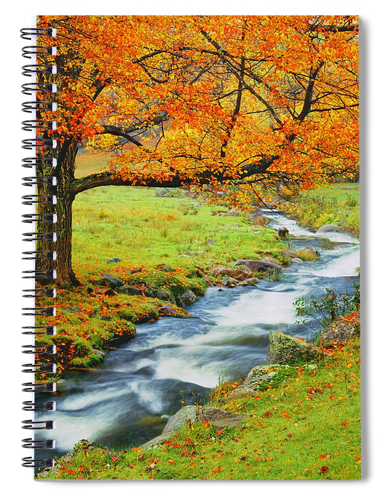 Scenics Spiral Notebook featuring the photograph Autumn In Vermont G by Ron thomas