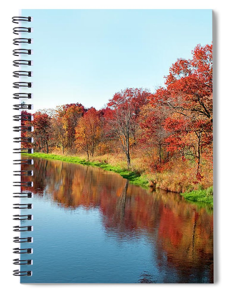 Water's Edge Spiral Notebook featuring the photograph Autumn In Wisconsin by Jenniferphotographyimaging