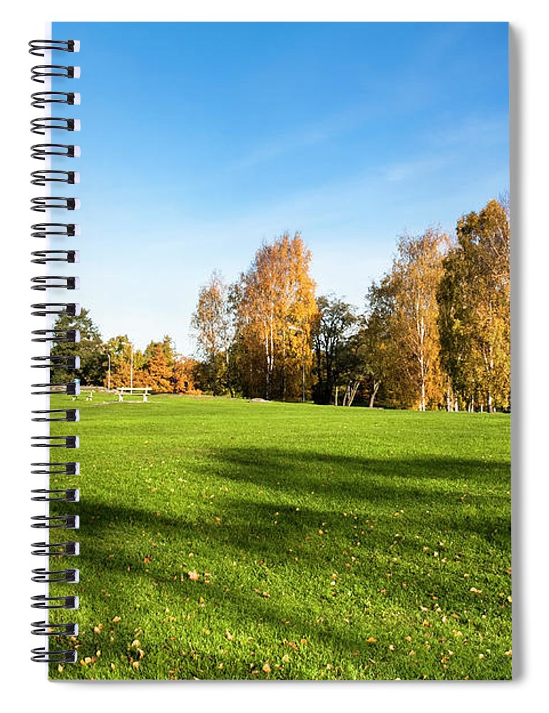 Environmental Conservation Spiral Notebook featuring the photograph Autumn Park by Chinaface