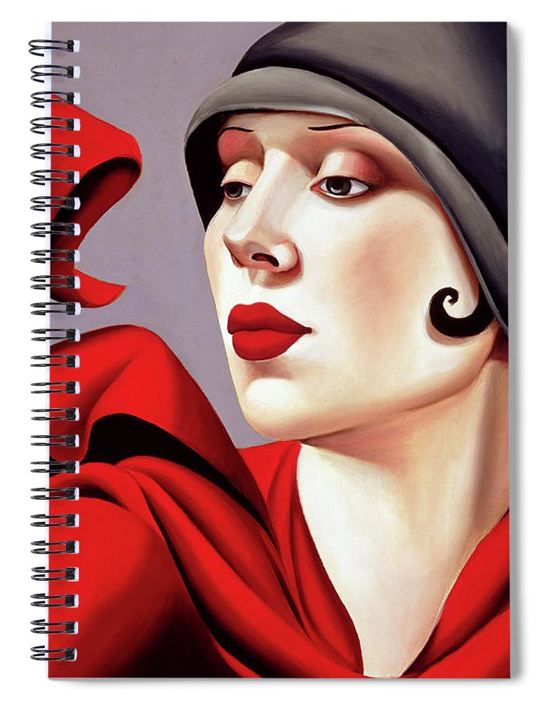30s Spiral Notebook featuring the painting Autumn Zephyr by Catherine Abel