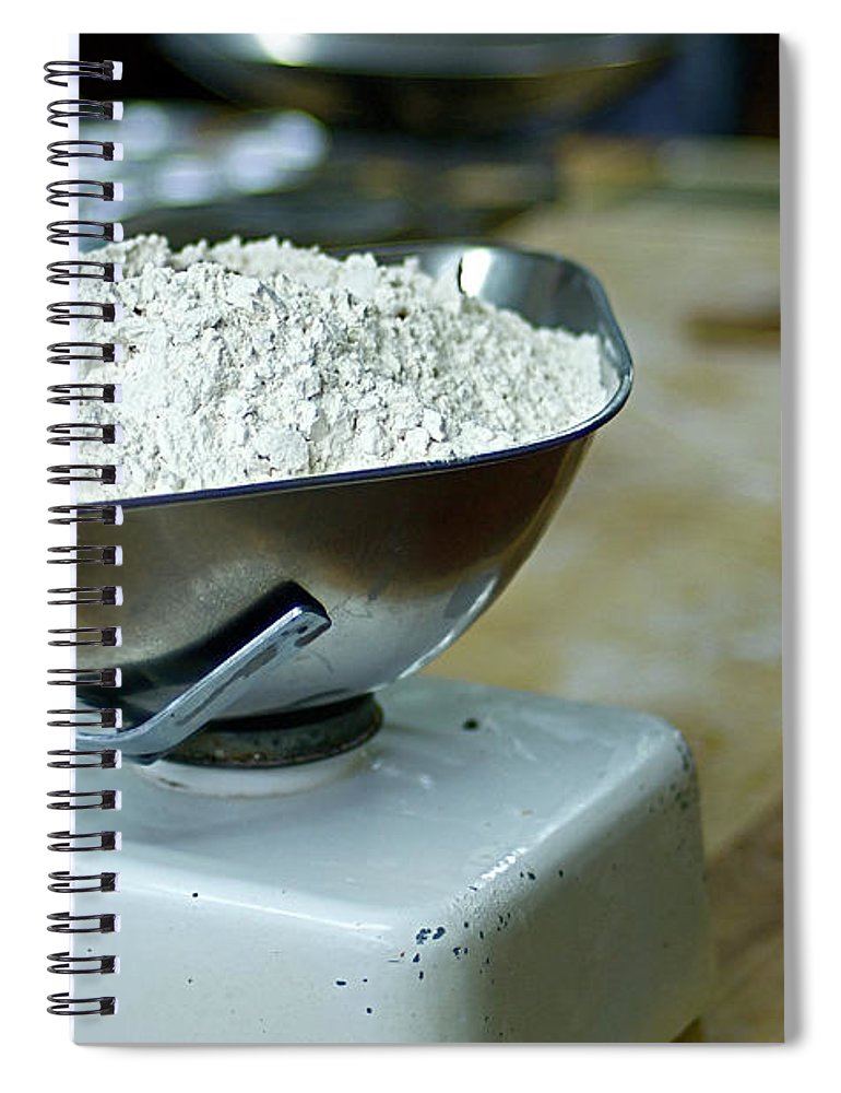 Bakery Spiral Notebook featuring the photograph Bakery Scales by Charlie Ingham