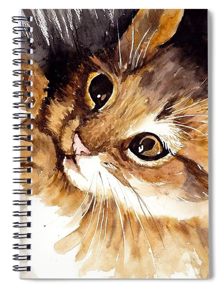 Little Spiral Notebook featuring the painting Ball Of Wool by Suzann Sines
