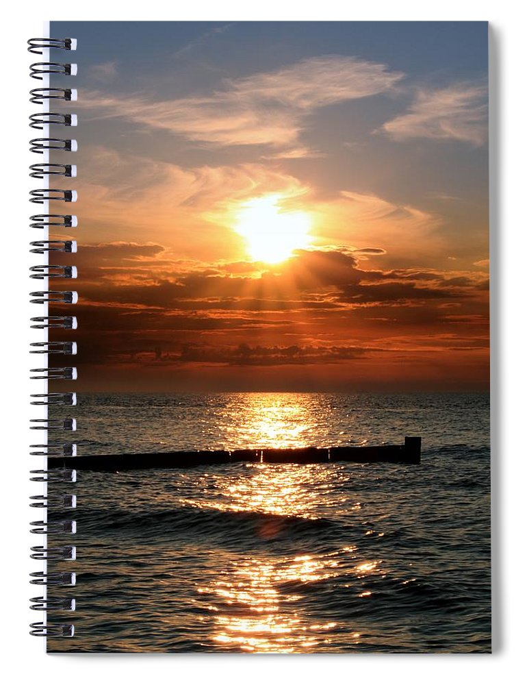 Tranquility Spiral Notebook featuring the photograph Baltic Sunset by © Jan Zwilling