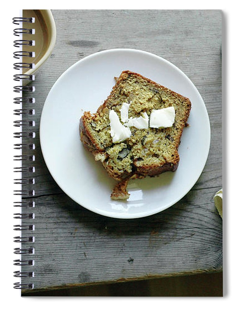 Domestic Room Spiral Notebook featuring the photograph Banana Bread For Breakfast by Jennifer Causey