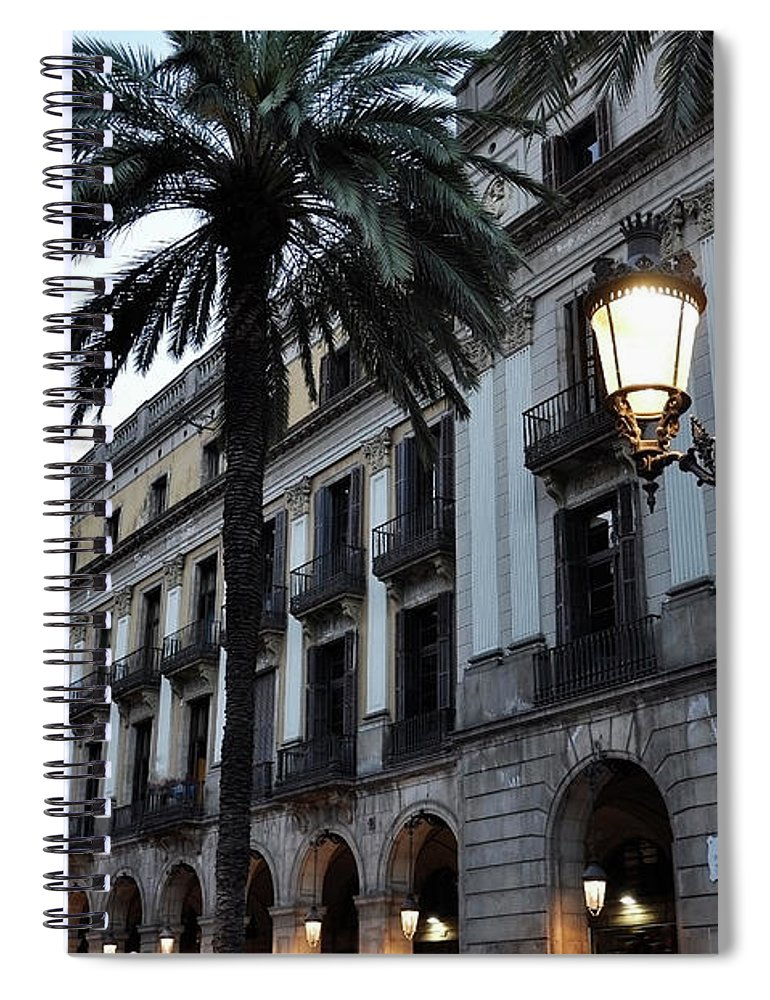 Outdoors Spiral Notebook featuring the photograph Barcelona, Placa Reial by Stefano Salvetti