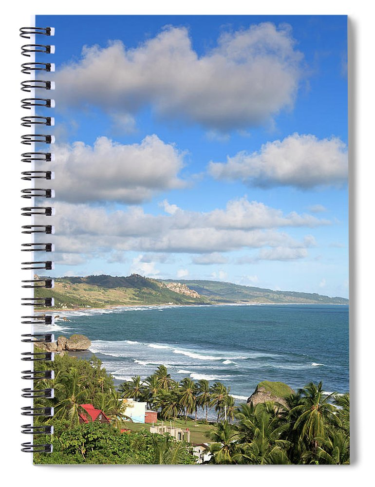 Scenics Spiral Notebook featuring the photograph Bathsheba Bay, Barbados by Michele Falzone