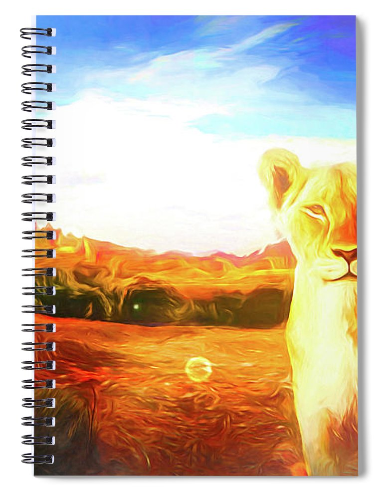 Afrika Spiral Notebook featuring the digital art Be Careful by Jasmina Seidl