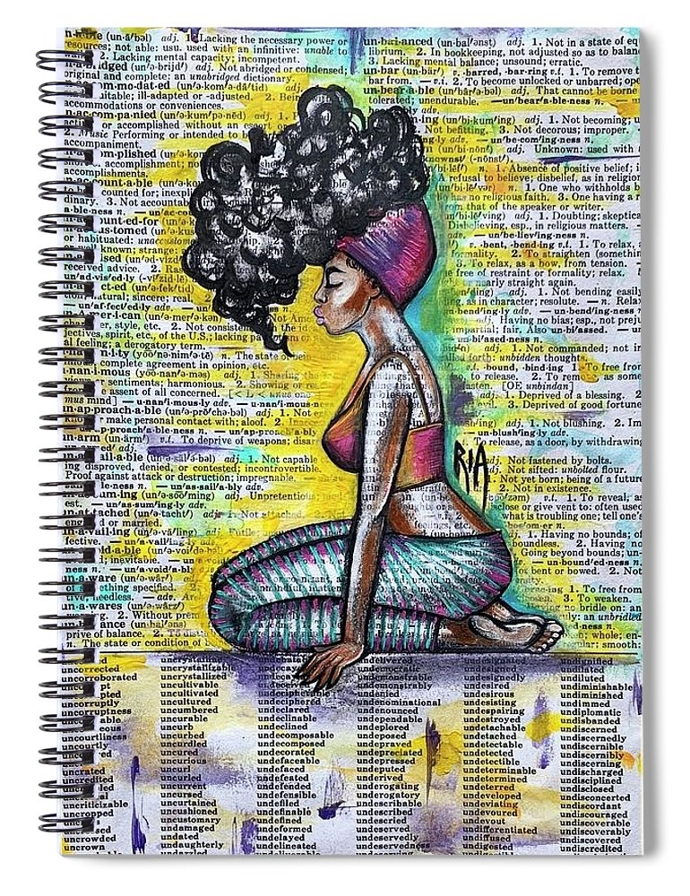 Words Spiral Notebook featuring the painting Be Strong-don't Let Them Break You by Artist RiA