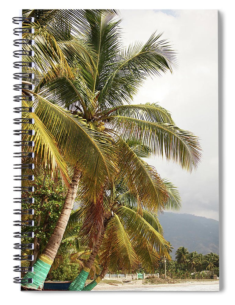 Tropical Tree Spiral Notebook featuring the photograph Beach In Haiti by 1001nights
