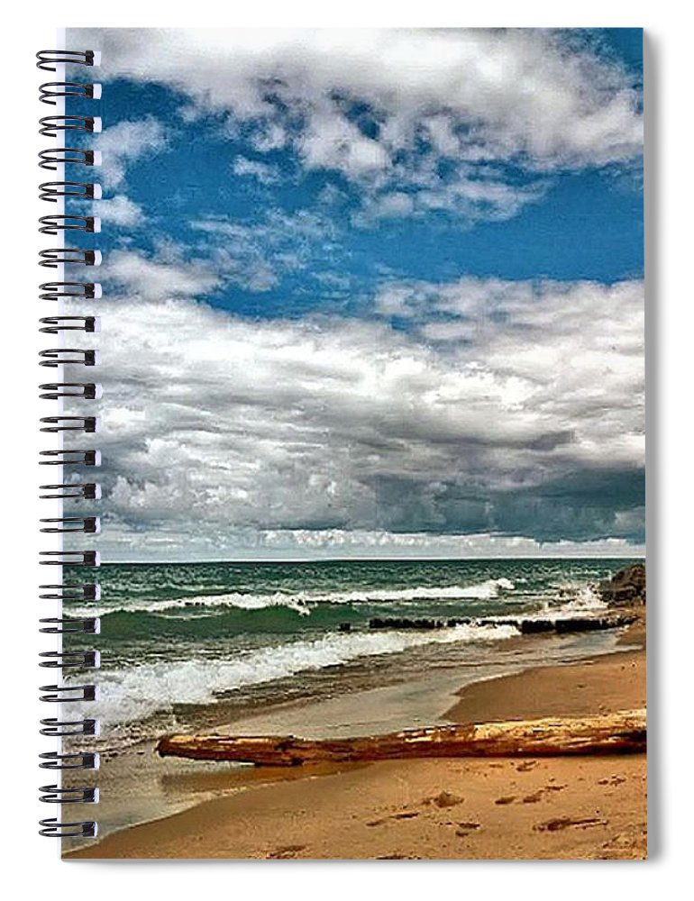 Spiral Notebook featuring the photograph Beach by Photo Crane