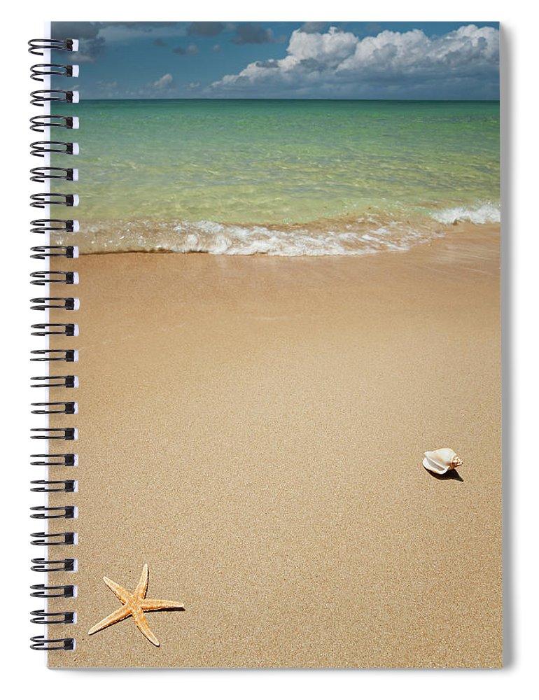 Empty Spiral Notebook featuring the photograph Beach by Ugurhan