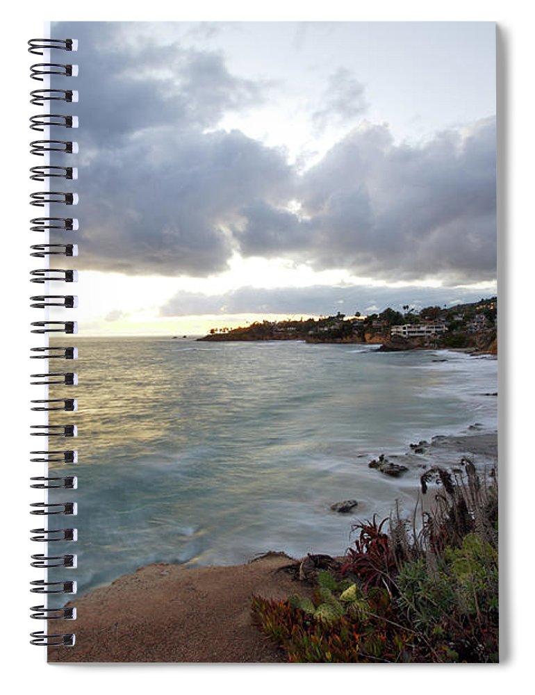 Laguna Beach Spiral Notebook featuring the photograph Beautiful Laguna Coast After Sunset by Ekash